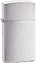 Slim Brushed Chrome Zippo - Click for details