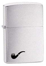 Brush Chrome Pipe Lighter Zippo