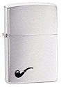 Brush Chrome Pipe Lighter Zippo - Click for details