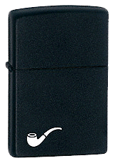 Black Matte Pipe Lighter Zippo