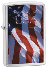 Made in USA Flag Zippo - Click for details