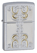 Gold Scroll Zippo - Click for details