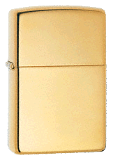High Polish Brass Zippo - Click for details