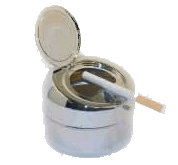 Stainless Flip Top Ashtray - Click for details
