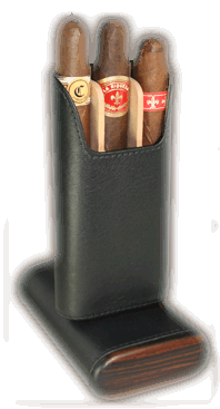 Brizard 3 Cigar Case Sunrise Black - Click for details