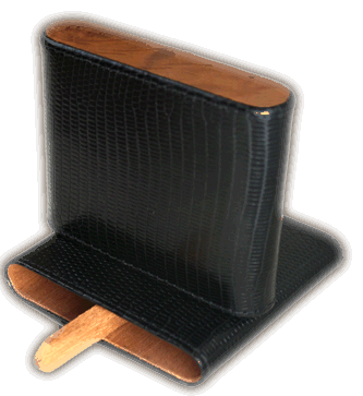 Brizard Cigarillo Case Lizard Black - Click for details