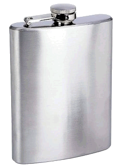 Concord 9 oz. Satin Finish Flask