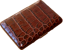 Brizard Fan Credit Card Holder Croco Tobacco - Click for details