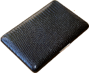 Brizard Fan Credit Card Holder Lizard Black - Click for details