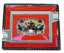 Elie Bleu Alba Red Cigar Ashtray - Click for details