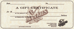 $100 Gift Certificate - Click for details