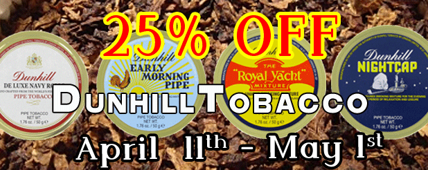 Dunhill Tobacco Sale April 2016