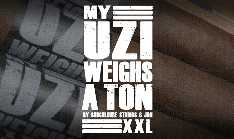 My Uzi Weighs A Ton | Iwan Ries & Co.