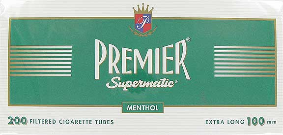 Premier 100 mm Menthol Filter Tubes