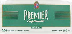 Premier 100 mm Menthol Filter Tubes - Click for details