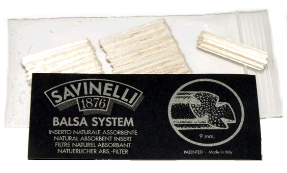 Savinelli 9mm Balsa Pipe Filters