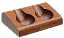 Savinelli Mahogany 2 Pipe Stand - Click for details