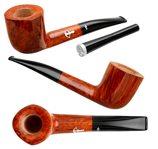 Savinelli Leonardo da Vinci 'Balestra' Smooth Brown