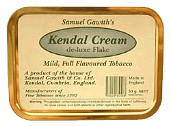 Samuel Gawith Kendal Cream Flake 50g. - Click for details