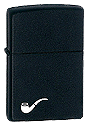 Black Matte Pipe Lighter Zippo - Click for details