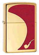 Red Brass Pipe Lighter Zippo - Click for details