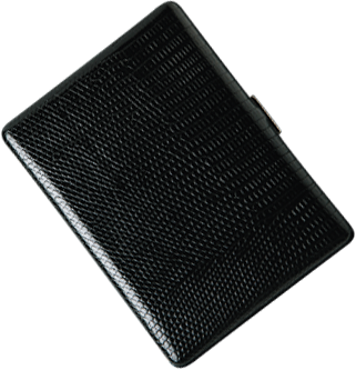 Brizard Thin Cigarette Case Lizard Black - Click for details