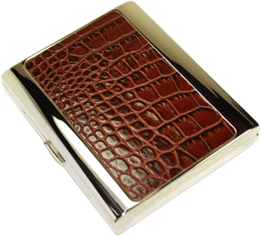 Brizard Cigarette Case Croco Tobacco - Click for details