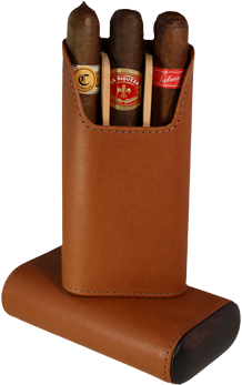 Brizard 3 Cigar Case Sunrise Tan - Click for details