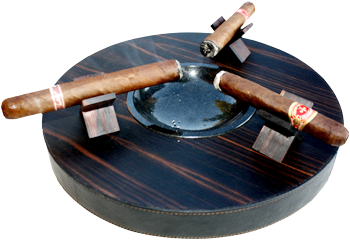 Brizard Round Deck Ashtray - Click for details