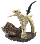 Creative Briar Pipe & Stand Set - Click for details