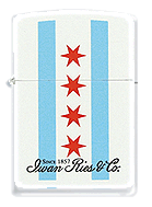 Iwan Ries Chicago Flag Zippo - Click for details