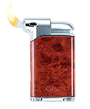 Colibri Pacific Pipe Lighter Burl and Chrome - Click for details
