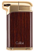 Colibri Pacific Pipe Lighter Wood Grain / Gold - Click for details