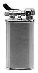 Kiribi Kabuto Satin Silver Pipe Lighter - Click for details