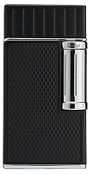 Colibri Julius Cigar Lighter Black / Chrome - Click for details