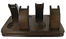Walnut 4 Pipe Rack - Click for details
