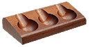 Savinelli Mahogany 3 Pipe Stand - Click for details