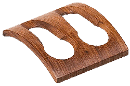 Teak 2 Pipe Rest - Click for details