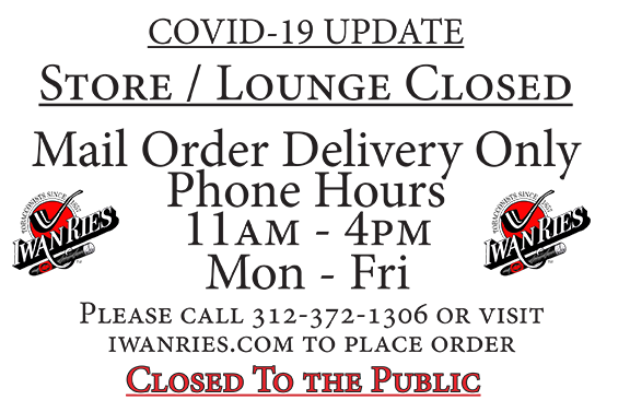 Store and Lounge Closed - Mail Order Onl