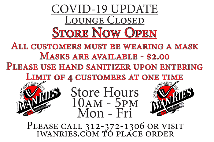 Store Opening and Lounge Closed - Mail Order and Curbside Available