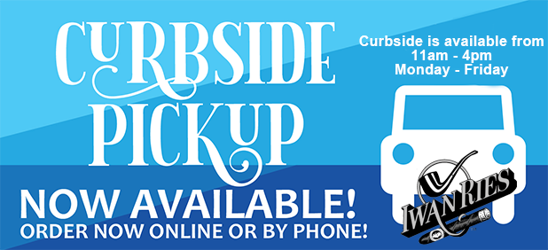 Curbside Pickup Monday to Friday 11am to 4pm